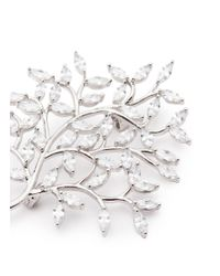 CZ by Kenneth Jay Lane - White Cubic Zirconia Tree Brooch - Lyst