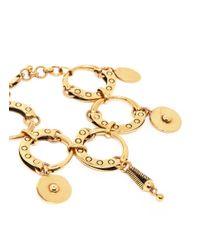 Chloé - Metallic 'quinn' Ring Charm Link Bracelet - Lyst