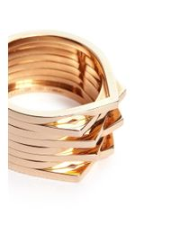 Repossi - Metallic 'antifer' 18k Rose Gold Eight Row Teardrop Ring - Lyst