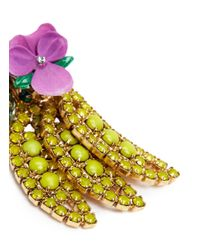 Elizabeth Cole - Multicolor 'banana' Swarovski Crystal Earrings - Lyst