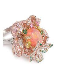 Anabela Chan - Multicolor 'bloom' Opal Diamond Sapphire Gold Vermeil Open Ring - Lyst