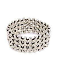 Philippe Audibert - Metallic 'max' Beaded Lattice Elastic Bracelet - Lyst