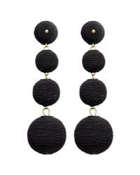 Kenneth Jay Lane - Black 'carnival' Threaded Sphere Drop Earrings - Lyst