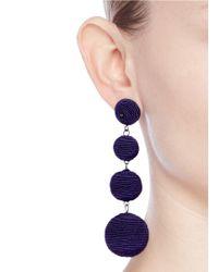 Kenneth Jay Lane - Purple 'carnival' Threaded Sphere Drop Earrings - Lyst