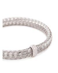 Roberto Coin - Metallic 'primavera' Diamond 18k White Gold Bracelet - Lyst