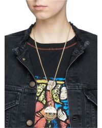Eddie Borgo | Metallic 'nubia' Geometric Plate Beaded Fringe Pendant Necklace | Lyst