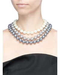 Kenneth Jay Lane | Multicolor Cultura Pearl Tiered Necklace | Lyst