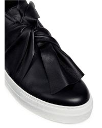Ports 1961 | Black Knot Vamp Platform Leather Sneakers | Lyst