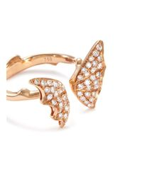 Stephen Webster - Metallic Diamond 18k Rose Gold Batmoth Open Ring - Lyst