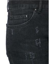 Palm Angels - Black 'track Skinny' Zip Cuff Distressed Jeans - Lyst