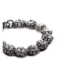 Lulu Frost - Metallic 'royale' Glass Crystal Link Bracelet - Lyst