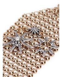 Lulu Frost | Metallic 'radiant' Glass Crystal Star Mesh Bracelet | Lyst