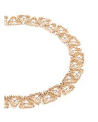Buccellati - Metallic Diamond 18k Gold Openwork Necklace - Lyst