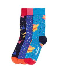 Happy Socks - Blue Singing Happy Birthday Gift Box 3-pack Set - Lyst