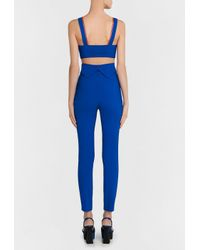 La Perla | Hot Blue And Bronze Cool-wool Trousers With Lurex Braid Detail | Lyst