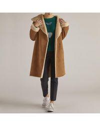 Rene' Derhy - Multicolor Long Faux Fur Coat - Lyst