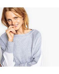LA REDOUTE - Gray Two-tone Sweatshirt - Lyst