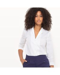 LA REDOUTE | White Fitted Cotton Shirt With Tailored Collar | Lyst