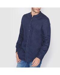 LA REDOUTE - Blue 100% Linen Straight Cut Shirt for Men - Lyst
