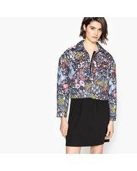 LA REDOUTE - Blue Floral Print Jacquard Jacket - Lyst