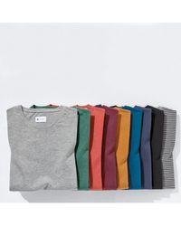 LA REDOUTE - Gray Tee Shirt Col V En Coton for Men - Lyst