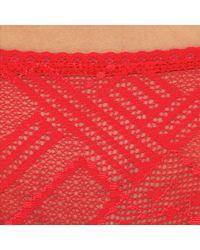 DIM - Red Sublim Trendy Stretch Lace Briefs - Lyst