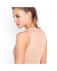 Noa Noa - Pink Long Sleeveless Cotton Broderie Anglaise Dress - Lyst