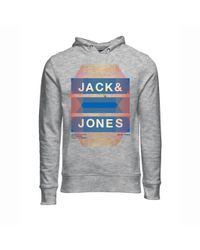Jack & Jones - Gray Advance Hoodie for Men - Lyst