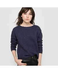 LA REDOUTE | Blue Warm Jumper/sweater With Drop Shoulders | Lyst