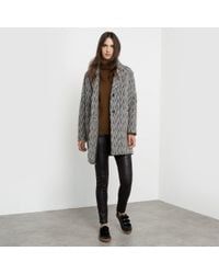 See U Soon | Gray Oversize Herringbone Coat | Lyst