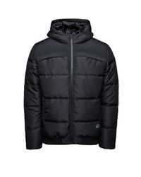 Jack & Jones - Black Quilted Hooded Padded Jacket for Men - Lyst