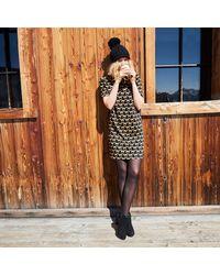 LA REDOUTE - Multicolor Fox Print Shift Dress - Lyst