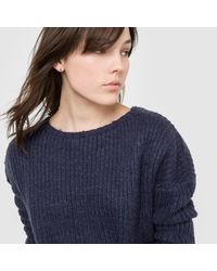 LA REDOUTE - Blue Warm Jumper/sweater With Drop Shoulders - Lyst