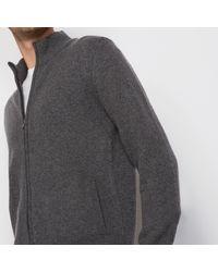 LA REDOUTE - Gray Vestje Met Rits In 100% Lambswool for Men - Lyst