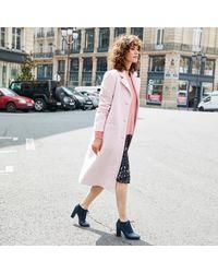 LA REDOUTE - Pink Wool Blend Coat - Lyst