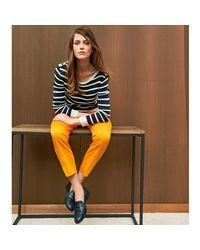 LA REDOUTE - Blue Slim Fit Cotton Cigarette Trousers - Lyst