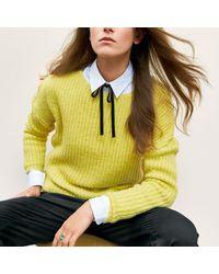 LA REDOUTE - Blue Warm Jumper/sweater With Drop Shoulders - Lyst