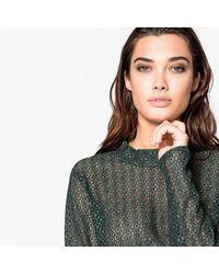 LA REDOUTE - Green Openwork Lace Blouse - Lyst