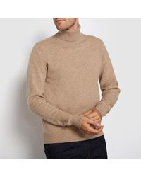 LA REDOUTE - Natural Lambswool Roll Neck Jumper/sweater for Men - Lyst