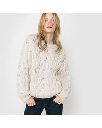 LA REDOUTE | White Chunky Cable-knit Jumper/sweater | Lyst