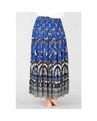Rene' Derhy - Blue Folk Style Maxi Skirt With Tassels - Lyst