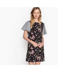 LA REDOUTE - Multicolor Floral Print Dress With Butterfly Sleeves - Lyst