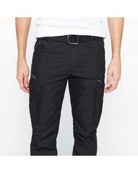 Schott Nyc - Black Cargo Us 70 Slim Combat Trousers for Men - Lyst