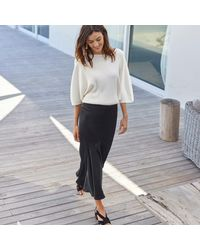 LA REDOUTE - Black Ruffled Hem Maxi Skirt - Lyst