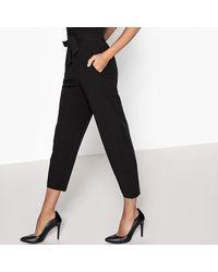 LA REDOUTE - Black Plunging V-neck Jumpsuit - Lyst