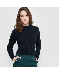 LA REDOUTE   Blue Cable Stitch Jumper/sweater   Lyst
