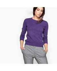 LA REDOUTE - Purple Cashmere Jumper/sweater - Lyst