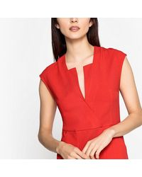 LA REDOUTE - Short-sleeved Flared Dress With Stylish Neckline - Lyst