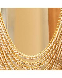 LA REDOUTE - Metallic Wide Bracelet With Chain And Metal Details - Lyst