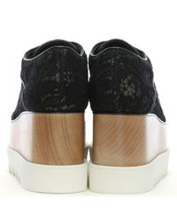 Stella McCartney - Elyse Black Lace Flatform Shoes - Lyst